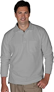 Edwards Unisex Long Sleeve Pique Polo With Pockets