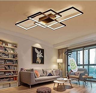 Chandelier Modern LED Dimmable Chandelier Lighting Ceiling Light Fixture Flush Mount Hanging Lamp for Living Room Bedroom ...