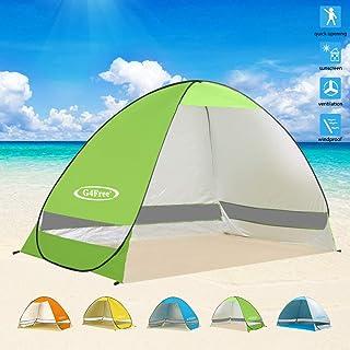 چادر ساحلی بزرگ G4Free بزرگ پناهگاه خورشید در فضای باز Cabana Sun Umbrella 3-4 شخص ماهیگیری ضد چشمی ضد چشمه آفتاب پناهگاه خورشیدی قابل حمل فوری
