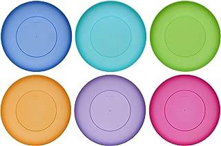 idea-station NEO placa de plástico de 25,5 cm, 6 piezas, colorida, redonda, apilable, reutilizable, juego de platos, plato de comedor, perfecta para niños, exterior, para acampar, apta para lavavajillas