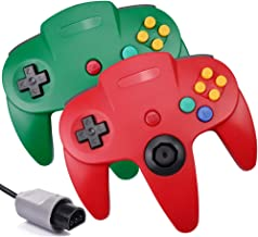 $22 » 2 Pack N64 Controller,Classic Wired N64 Upgrade Joystick Gamepad Controller for Original Nintendo 64 Console-Green and Red