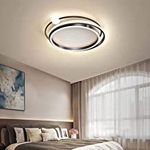 Modern Round LED Ceiling Lamp Creative Acrylic Ceiling Lighting Fixture for Living Room Bedroom Dining Room Decorative, Bl...
