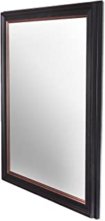 Art Street Modern Warnish Wall Decorative Mirror Black Color 12 x18 Inch, Outer Size 14 x 20 Inch