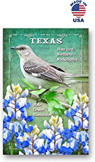 TEXAS BIRD AND FLOWER postcard set of 20 identical postcards. TX state symbols post cards. Made in USA.