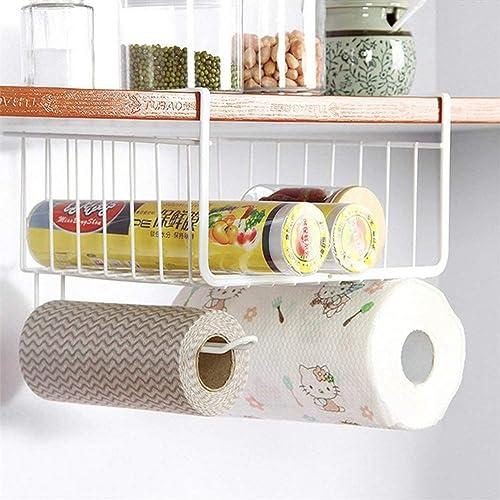 LWVAX� Multifunctional Storage Basket Kitchen Storage Rack Under Cabinet Storage Shelf Basket Wire Rack Organizer Sto...