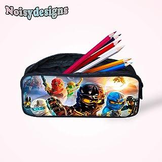 Kids Schoolbag Pencil Case for Student 3D Ninjago Games Movies Printed School Supplies Children Bag Women