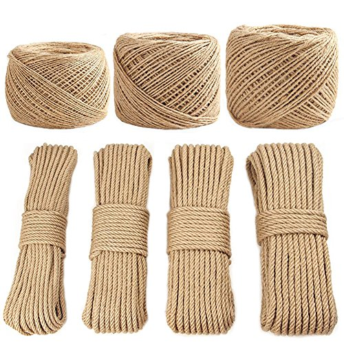 Decoration Wrapping Packaging Bundling Gardening Applications Landscaping Rope Durable Strong String - Natural Unstained Materials for DIY Handmade Knitting Projects