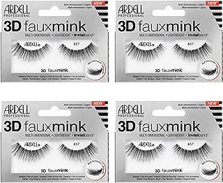 Ardell False Eyelashes 3D Faux Mink 857, 4 pairs