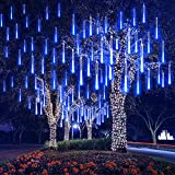 AKNMSOY LED Meteor Shower Lights,Falling Rain Drop Lights,Icicle Lights with Waterproof 11.8inch 8 Tubes SMD2835 192LEDs for Party Wedding Holiday Christmas Decoration (Multicolor)