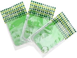 Prettyia 3pcs Bath Exfoliating Scrubber Glove Mitt Clean For Bathing Sauna Shower - Green