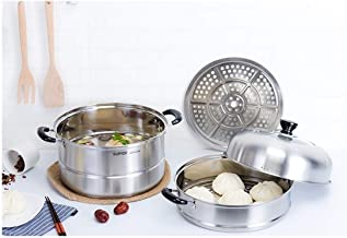 MSWL 304 Stainless Steel Steamer 2 Layer 2 Large Double Thick Steamer Household High Quality Durable Gas StoveGood Quality...