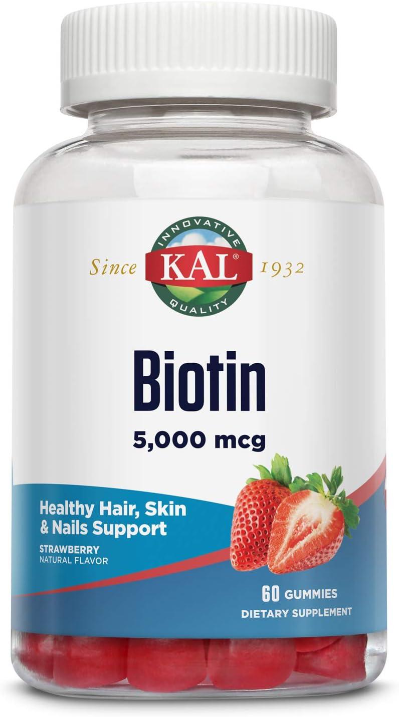 Overseas parallel import regular item KAL Biotin Gummies 5 000 mcg Nail Skin and Hair Suppor Healthy Save money