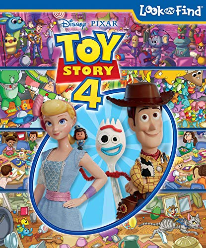 Disney Pixar Toy Story 4 Woody, Buzz Lightyear, Bo Peep, and More! - Look and Find Activity Book -...