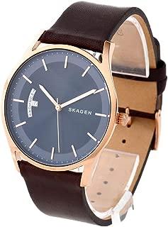 [スカーゲン]SKAGEN メンズ ホルスト 40mm ローズゴールドケース ネイビー文字盤 ダークブラウン レザー SKW6395 腕時計 [並行輸入品]
