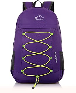 Packable Handy Lightweight Foldable Outdoor Travel Daypack Backpack (Purple)