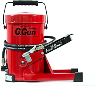 G. Gun Grease Gun - Quick and Easy Greasing - 10 Foot Flex Hose - LockNLube Grease Coupler Included - no Mess, no Waste - Industrial Strength Construction - 10,000 Psi Foot Operated