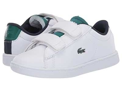 Lacoste Kids Carnaby Evo 120 2 SUI (Toddler/Little Kid) (White/Green) Kid