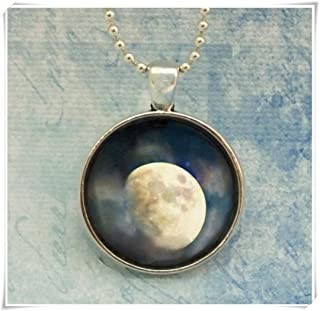 Gibbous Waxing Moon, Magical Surreal Luna, Moon Phase Fine Art Photo Pendant Necklace,