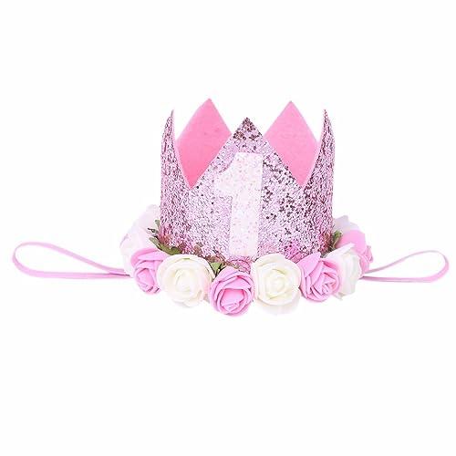 iiniim Festival Birthday Party Lace Letter Flower Crown Headband DIY Rose  Gift Children Girls Hair Accessories 2183ff9b0b7
