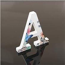 ZHHOOHAG Huisborden 10cm A-Z houten Engelse letters witte vlinder alfabet ornamenten decoratie ambachten hout brief bruilo...