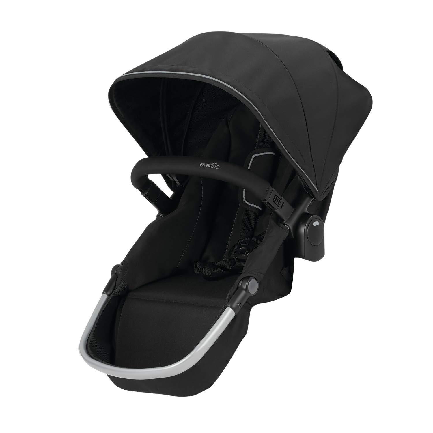 Evenflo Pivot Xpand Modular Stroller Second Seat, Compatible with Evenflo Pivot Xpand Modular Travel System and Modular Stroller, Holds Up to 55-lbs, Multiple Configurations, Stallion Black