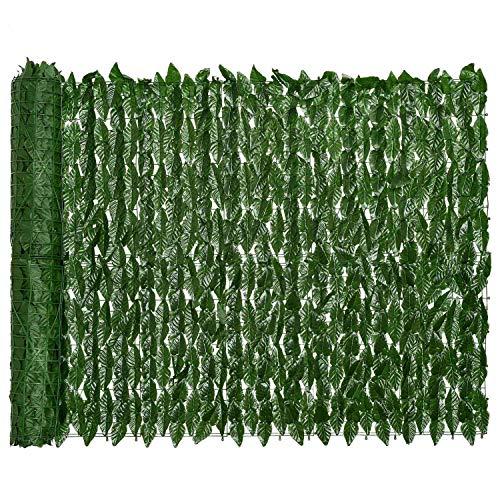 Gaetooely Recinzione per Recinzione per La Privacy di Edera Artificiale 0.5X3M Recinzione per Siepi Artificiali e Decorazione Un Foglia di Vite di Edera Finta per Giardino Esterno