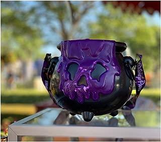Halloween 2019 Disney Purple Poison Apple Light UP Cauldron Popcorn Bucket Annual Passholder Theme Park Exclusive