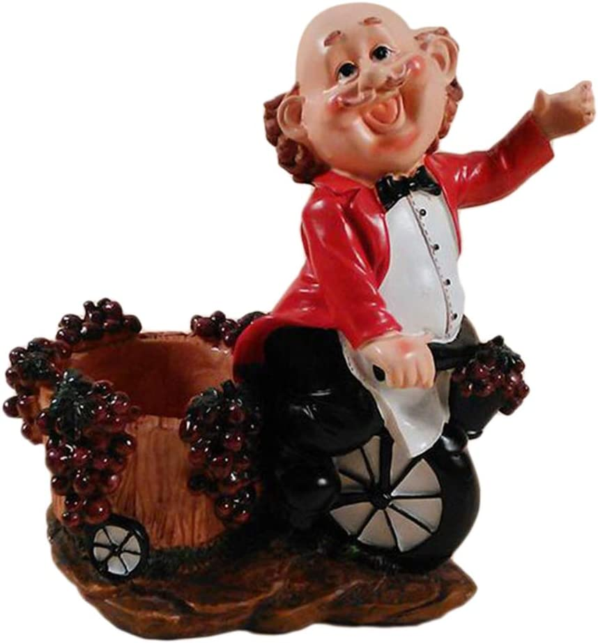 Flameer Wine Indefinitely Racks Countertop Red Super-cheap Resin Statue Bartender Cothes