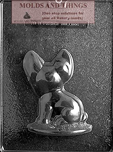 FRENCH BULLDOG Chocolate candy mold Side B with copywrited molding Instructions