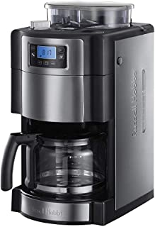 Russell Hobbs Grind Brew Filtre Kahve Makinesi, Siyah/Gümüş