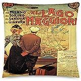 GodYo Vintage Poster - Lago Maggiore 0799 - Quadratische