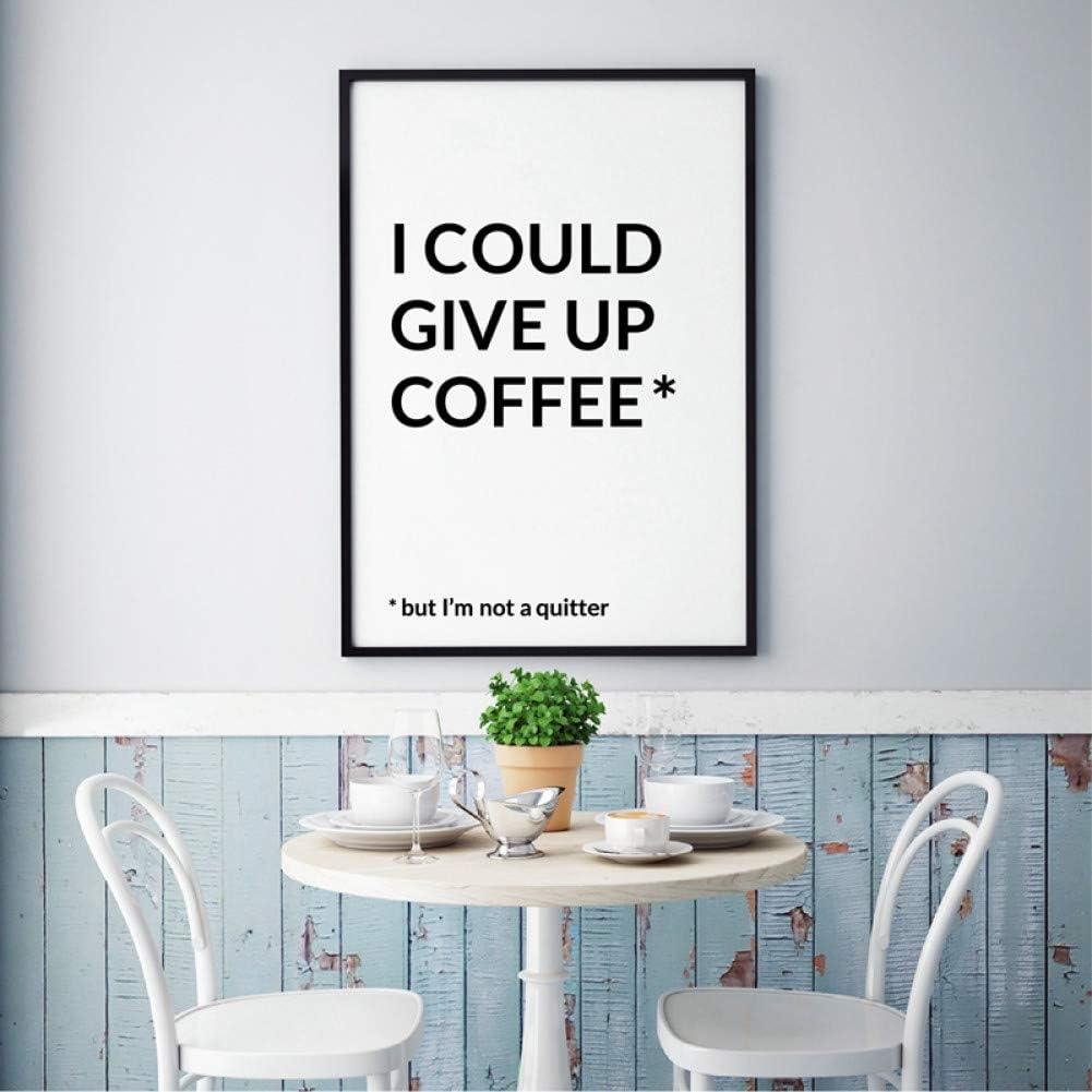 Amazon.com MMLUCK Canvas Decorative Painting Funny Coffee Quotes ...