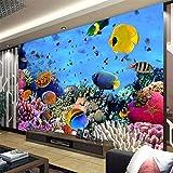 Papel Pintado,Papel Tapiz Mural 4D Personalizado,Cómic Fondos Marinos Pescados Tortuga Animal La Pintura De La Pared De Fondo Sofá Tv Wall Papers Hd Arte Imprimir Imagen De Póster Para La Habitaci