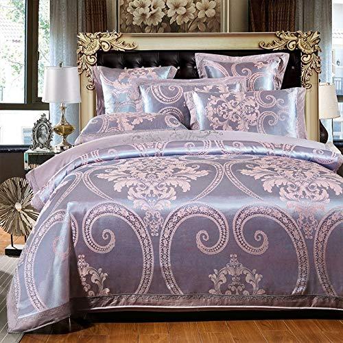 yaonuli Satijn satijn jacquard vierdelige hoogwaardige katoenen vellen dekbedovertrek bruiloft thuis textiel
