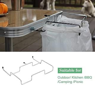 Yosoo Trash Bag Rack-Trash Can Bracket Dustbin Cage Garbage Plastic Bag Holder Table Rack Outdoor Indoor Travel Use-1 PCS