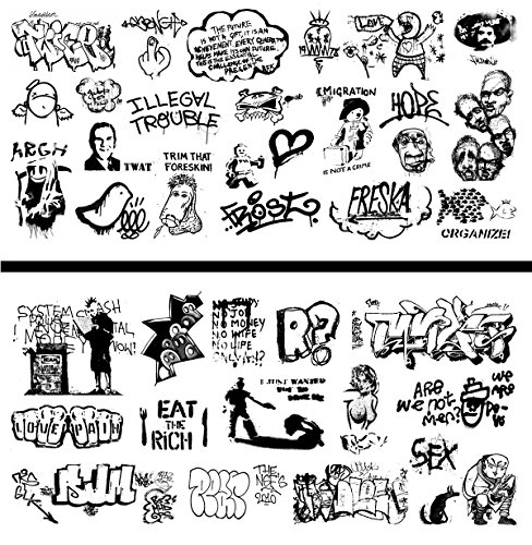 HO Scale Graffiti Waterslide Decals 2-Pack #20 - Weather Your Box Cars, Hoppers, & Gondolas!