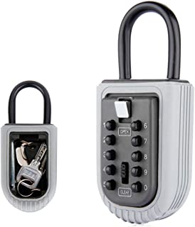 Key Lock Box Combination Lock Box with 10 Digit Push Button Weather Resistant for Indoors or Outdoors