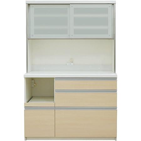 パモウナ 食器棚LF ライトチェリー 幅120×高さ198×奥行50 日本製 LF-1200R