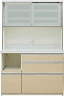 パモウナ 食器棚QF ライトチェリー 幅120×高さ178×奥行45  日本製 QF-S1200R
