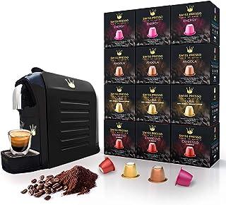 Swiss Presso COFFEE Machine ESPRESSO Coffee Machine Coffee Maker Black with 120 Espresso Coffee Capsules NESPRESSO Compatible