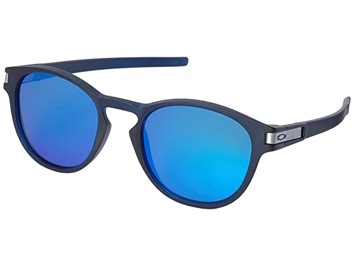 Oakley Latch Grid (Matte Trans Blue w/ Prizm Sapphire) Sport Sunglasses