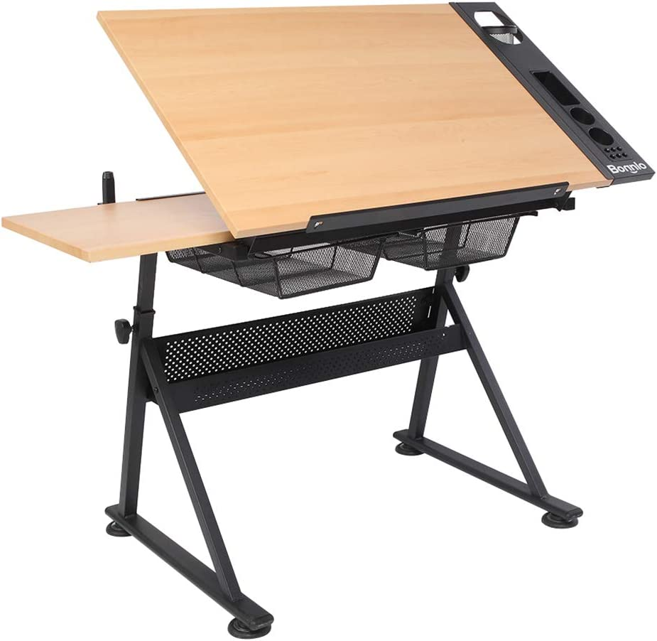 VINGLI Professional Drafting Desk Indianapolis Mall Wooden Height Limited Special Price Drawing A Table