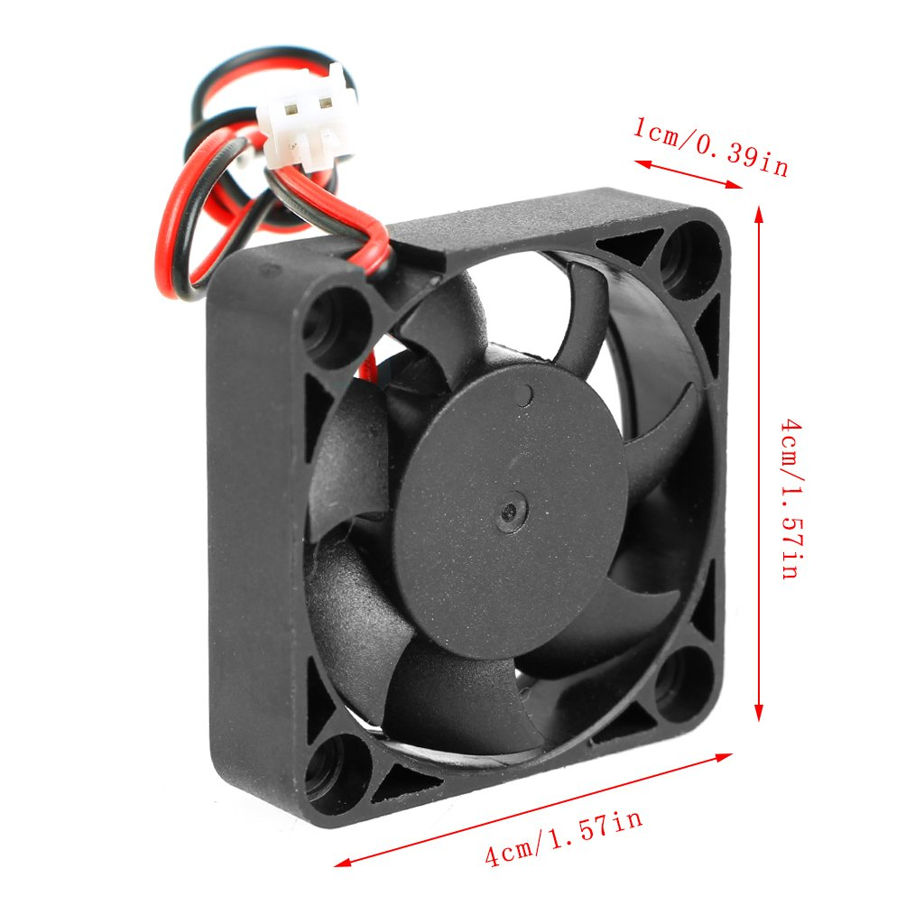 MYA - Ventilador de Ordenador de sobremesa DC 24 V 0,10 A 2 Pines para PC CPU Sistema Fan Brushless Cooling Fan 4010: Amazon.es: Hogar