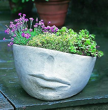 Campania International P 175 Na Faccia Planter Medium Natural Finish Outdoor Statues Garden Outdoor Amazon Com