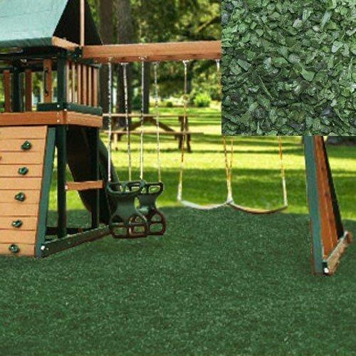 KIDWISE Playground Rubber Mulch 75 Cu.Ft. Pallet- Green - Mulch Only
