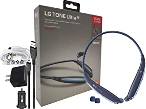 LG Tone Ultra SE HBS-835 Bluetooth Wireless Stereo Headset - with Wall/Car Charger (Retail Packing Kit) Blue HBS835s Kit