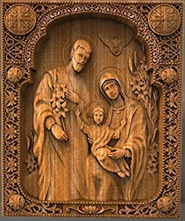 Holy Family Nativity Christmas gift anniversary gifts Wood Carving christmas gift for mom handmade gifts christian