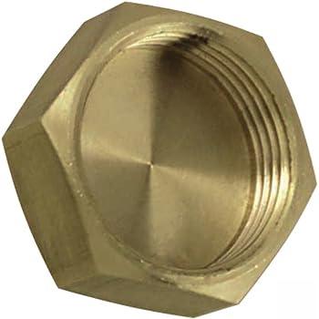 Bouchon d/'obturation de canalisation en laiton Avec filetage interne Adaptateur anti-fuite 1 1//2 1