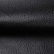 """ANMINY Vinyl Faux Leather Fabric Cotton Back for Hand Crafts DIY Tooling Sewing Hobby Workshop Crafting Wallet Making Square 0.7mm Thick 54"""" Wide by The Yard (Black)"""