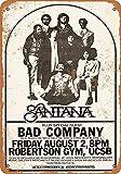 Kilburn 1974 Santana and Bad Company In Santa Barbara Retro